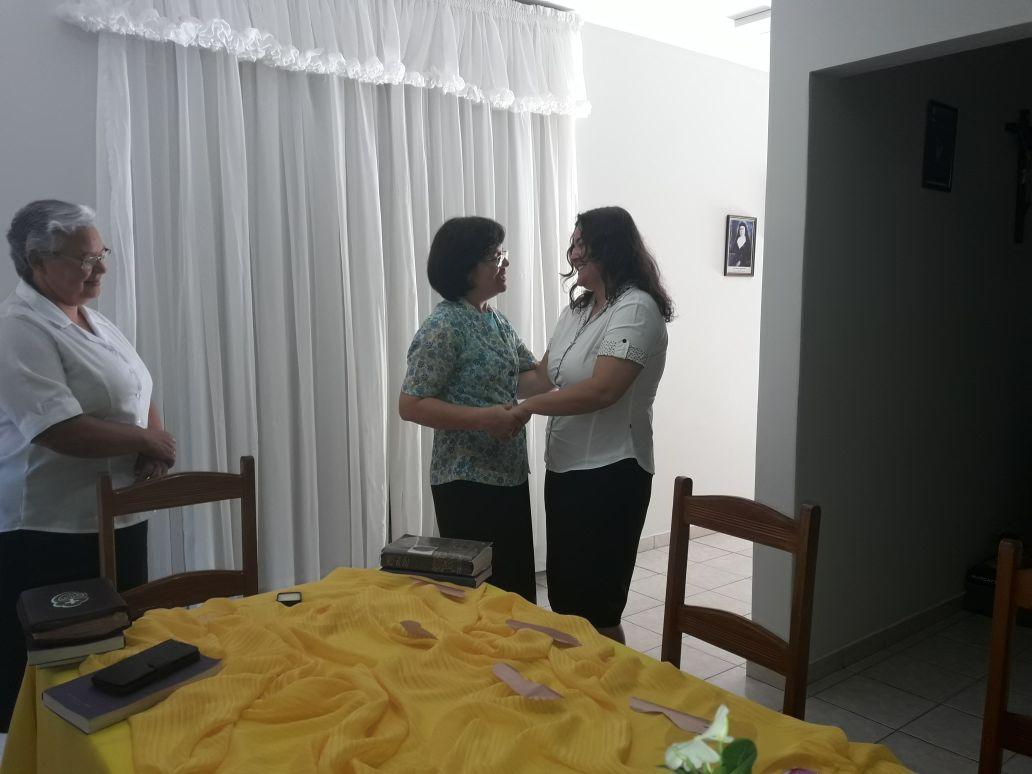 Visita da Ir. Célia à Com. Passionista Coração de Jesus