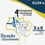 4º Congresso Vocacional do Brasil recebe inscrições para sua 4ª edição em Aparecida (SP)