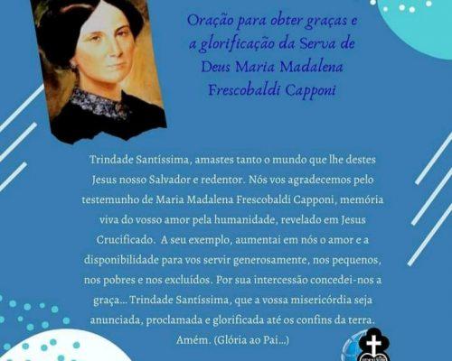Celebrando o dia da Fundadora Maria Madalena Frescobaldi  Capponi